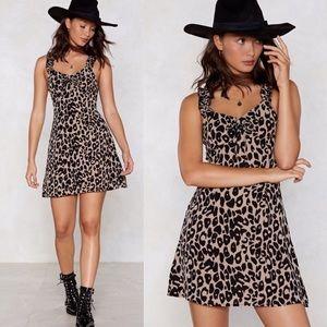 🍁3/$30 NASTY GAL Wild Card Leopard Dress